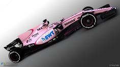 Force India VJM-10 2017 F1 car in new PINK livery, colour of new sponsor BWT (Best Water Technology)