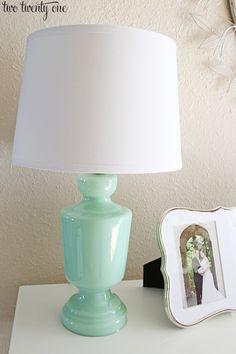 target threshold mint glass lamp