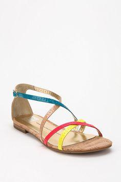 3cb7fa4997cf Dolce Vita Cork Sandal Online Only Neon Sandals