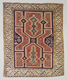Bergama Type Carpet, 19th century. Cotton and wool, 73 x 60 in. (185.4 x 152.4 cm). Brooklyn Museum, Bequest of Mrs. Joseph V. McMullan, gift of the Beaupre Charitable Trust in memory of Joseph V. McMullan, 84.140.1. Creative Commons-BY (Photo: Brooklyn Museum, 84.140.1.jpg)