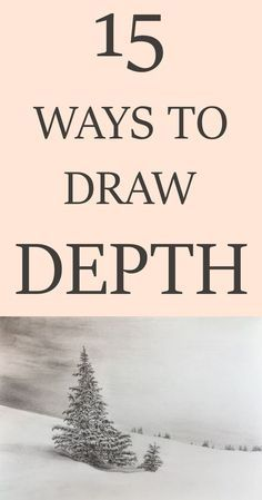 Methods to add space and depth to your drawing or painting. Methods to add space and depth to your drawing or painting. Drawing Lessons, Drawing Skills, Drawing Tips, Drawing Ideas, Figure Drawing, Painting & Drawing, Learn Drawing, Drawing Drawing, Drawing Faces