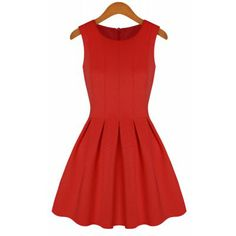 Casual Style Scoop Neck Solid Color Ruffled Sleeveless Women's DressCasual Dresses | RoseGal.com