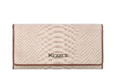 Beżowo-brązowy portfel #Kazar