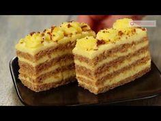 Romanian Desserts, Romanian Food, Baking Recipes, Dessert Recipes, Torte Recepti, Mousse Cake, Vanilla Cake, Food To Make, Food And Drink