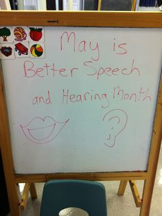 May is Better Speech & Hearing Month