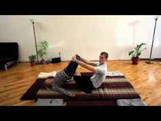 Anti gravitational spinal relaxation pose!  How to relax & lengthen the lower back in Thai Massage :)