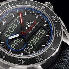 Two new Omegas for the 35th edition of the America's Cup to support the ETNZ team: Speedmaster X-33 Regatta and Seamaster Planet Ocean ETNZ.