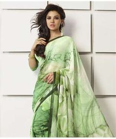 35bfda51f3f Faux Georgette Saree with Blouse