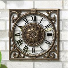 Distinctive, Functional And Appealing Our 14 Inch Square Irongate Outdoor  Clock Is The Perfect