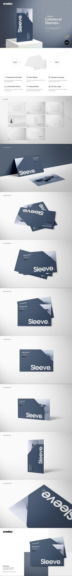 Collateral Sleeves Mockup Set (2) #shop #template #smart #psd #dinnerplatemockup #a4 #clothes #folded #flyer #etsy #printable #brochure #paperboard #mockup #heartmockup #mockup #MockupTemplate #minimal #pat Mockup Templates, Gown, Pocket, Patterns, Sleeves, Design, Dress Prom, Frock Dress, Robe