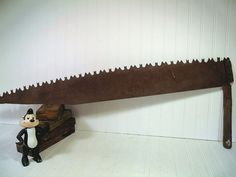 Antique One Man CrossCut Collector's Logging Saw  by DivineOrders