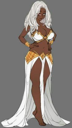 Black Girl Art, Black Women Art, Art Girl, Black Anime Characters, Fantasy Characters, Female Characters, Female Character Design, Character Design Inspiration, Character Art