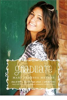 awesome website for graduation announcements, party invites, and thank you cards photoaffections.com
