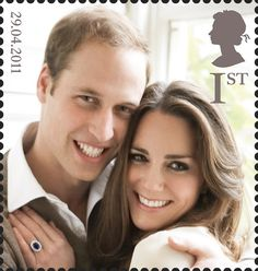 Royal Mail Special Stamps | Y Briodas Frenhinol - The Royal Wedding. EUB Y Tywysog William o Gymru & Miss Catherine Middleton - HHR Prince William of Wales & Miss Catherine Middleton