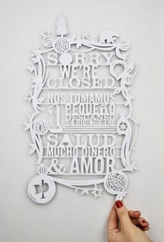 good typography + laser cut paper = awesomeness!