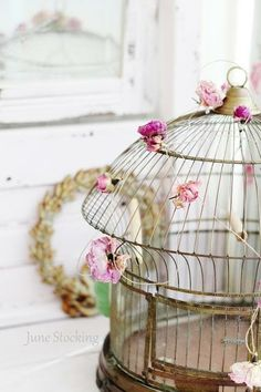Vintage Bird Cage Shabby Chic