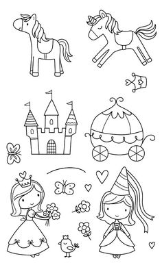 Art Drawings For Kids, Drawing For Kids, Easy Drawings, Line Drawing, Art For Kids, Coloring Book Pages, Coloring Sheets, Digi Stamps, Doodle Art