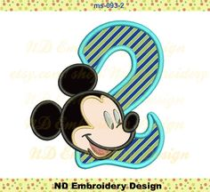 Mickey Mouse Birthday Set Machine Embroidery
