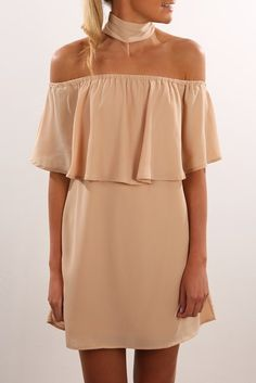 Cant See Dress Beige