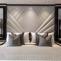 This is a Bedroom Interior Design Ideas. House is a private bedroom and is usually hidden from our guests. However, it is important to her, not only for comfort but also style. Much of our bedroom … Headboard Designs, Upholstered Wall Panels, Bedroom Bed, Headboards For Beds, Luxury Bedroom Design, Luxurious Bedrooms, Upholstered Walls, Bed Headboard Design, Bedroom Headboard