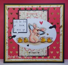 Stamping Bella Nice to See You Petunia rubber stamp. Click through for blog post with inspiration!