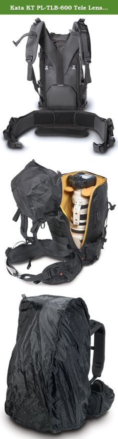 Kata KT PL-TLB-600 Tele Lens Backpack - Black. The TLB-600 PL Telephoto Lens Backpack is designed to safeguard Pro DSLR with 600mm Telephoto Lens attached, while keeping it as light and compact as possible. When smaller lenses are in use a stable horizontal divider can be set at the required height and the space bellow used for additional storage. Special padded cradle divider snuggly fits around the base of the lens where it joins the camera and provides important stability to the heavy...
