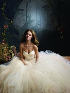 #princess #wedding #dress. I want something poofy!!  #tulle ( #Lazaro )