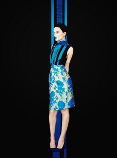 'May Blossoms.' Naty Chabanenko in Miu Miu photographed by Erik Madigan Heck for Harper's Bazaar UK, May 2015.