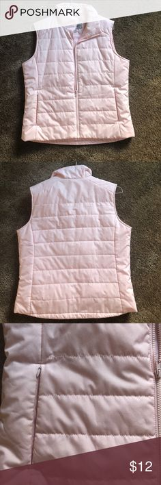 Vest Cute pink light weight vest has pockets and zips up the front!! port/authority Jackets & Coats Vests