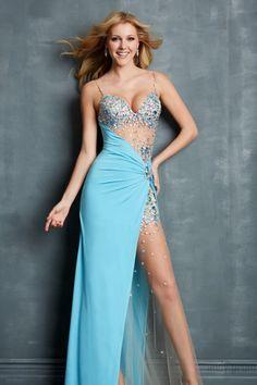 High Split Sexy Prom Dresses