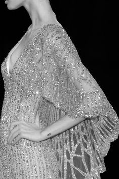 #Elie #Saab 2007 | #Sequin #glam Cape Gown