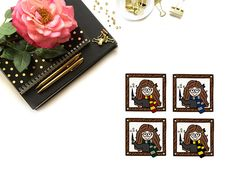 One piece sticker Hogwarts House Colors, Which Hogwarts House, Harry Potter Stickers, Personal Planners, Dark Skin Tone, Erin Condren, Travelers Notebook, Filofax, Ephemera