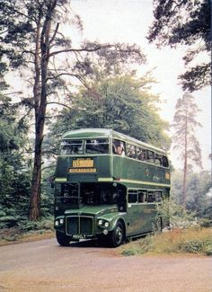 AEC Routemaster green line buses greater london