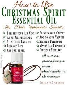 How to Use Christmas Spirit Essential Oil