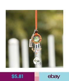 Orange Hanging Dreamcatcher Crystal Ball Prisms Fengshui Pendant 20Mm Home Decor #ebay #Home & Garden