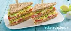 Club sandwich met eiersalade