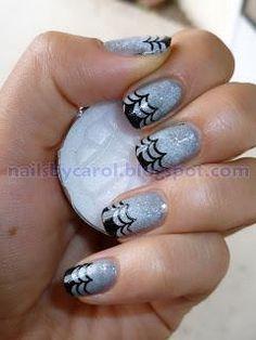 DIY halloween nails: DIY Halloween nail art : Halloween Nail Art Challenge: Spiderweb