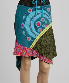 I love this! Blue & Pink Hi-Low Skirt on #zulily today!