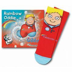 Oddies Rainbow Book + Sock Set - Rainbow Gifts and Fun Badges