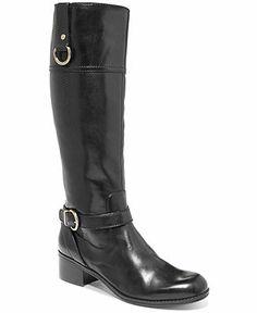 Bandolino Boots, Chamber Wide-Calf Tall Riding Boots - Bandolino - Shoes - Macy's