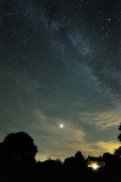 Photograph of the Milky Way and Planet Venus over Suffolk by Arpad Lukacs