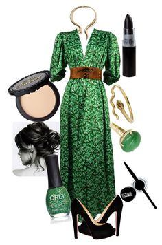 Snake by colourfulxchaos on Polyvore featuring Yves Saint Laurent, Christian Louboutin, Vintage, Maybelline and ORLY