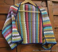 Crochet Rectangular vest (its final dimensions are 120 cm long and 50 cm wide, edge included)