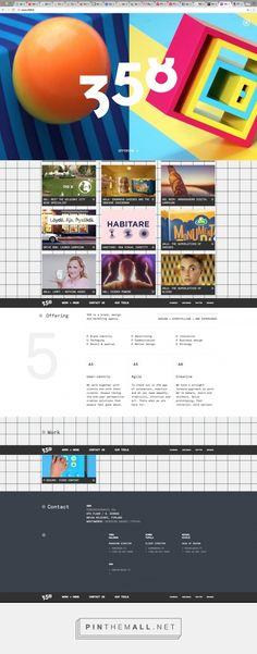 358.fi toimiston nettisivu.    Heti sivulle tullessaan pyörii kooste asiakkaiden mainosvideoista. Sivua selaamalla alaspäin tulee esitellään asiakkaat ja mitä toimisto tarjoaa. Sivun alareunassa kiinteä menu-palkki, jonka kautta löytää kaiken tarvittavan.    Sivut ovat nykyaikaiset ja saa toimiston vaikuttamaan ammattitaitoiselta. - created via https://pinthemall.net