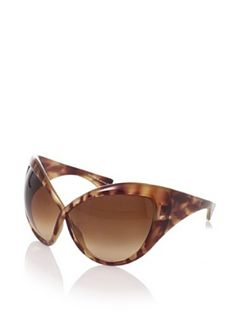 c4f67379b0 Tom Ford Women s Daphne FT0219 Sunglasses (Light Tortoise Brown) Cat Eye  Sunglasses