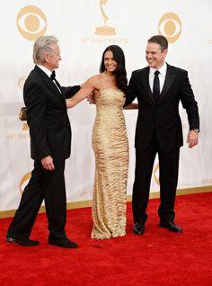 Michael Douglas, Luciana Barroso & Matt Damon