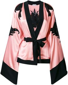 Tailor your look to perfection with the women's fitted jackets edit at Farfetch. Find women's designer tailored jackets from top names now. Silk Kimono, Kimono Jacket, Kimono Top, Mode Kimono, Cotton Sleepwear, Cute Pajamas, Kpop Outfits, Character Outfits, Up Girl