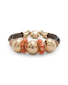 Chico's Women's Blush Wrapped Magnetic Bracelet