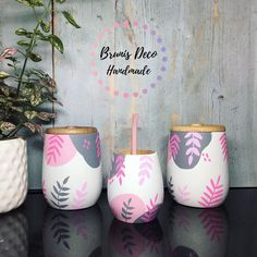 Dot Art Painting, Pottery Painting, Dyi Crafts, Craft Stick Crafts, Mason Jar Crafts, Bottle Crafts, Painted Mugs, Hand Painted, Ab Workout For Women At Home