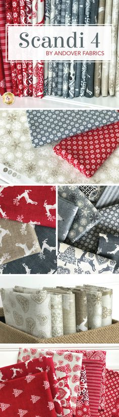 Scandi 4 by Makower UK from Andover Fabrics is a whimsical Scandinavian fabric collection available at Shabby Fabrics!